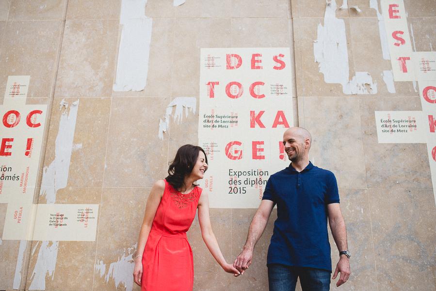 Seance engagement devant l'école des beaux-arts à Metz